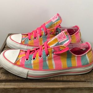 Converse all star striped canvas sneaker
